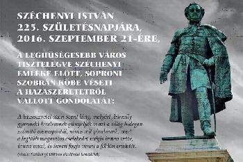Soproni Sz�chenyi szobor