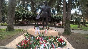 Széchenyi szobor Szatmárnémetiben