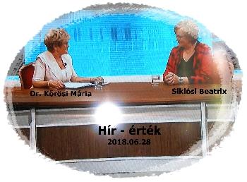 Dr. Kőrösi Mária riportja Siklósi Beatrixal