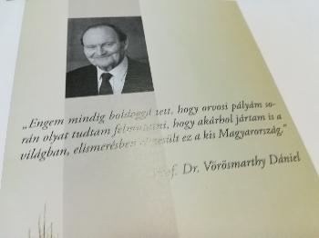 Elhunyt Prof. Dr. Vörösmarthy Dániel, a magyar orvostudomány világszerte elismert tudósa, a Széchenyi Társaság tagja